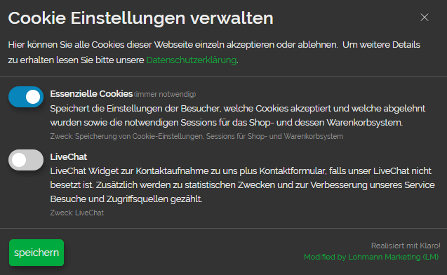 Cookie Infobanner